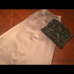 Beautiful pewter skirt with matching bandeau top